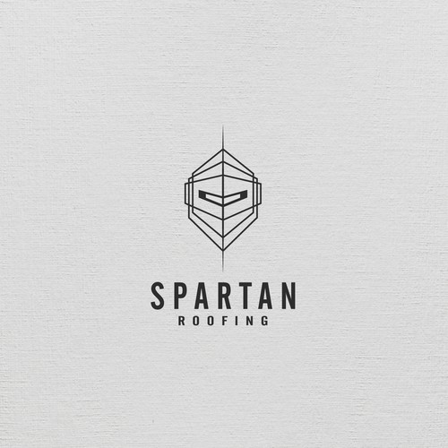 Masculine Spartan Logo for Roofing and Restoration Company