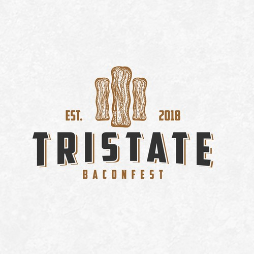 Logo for the First Annual TriState BaconFest