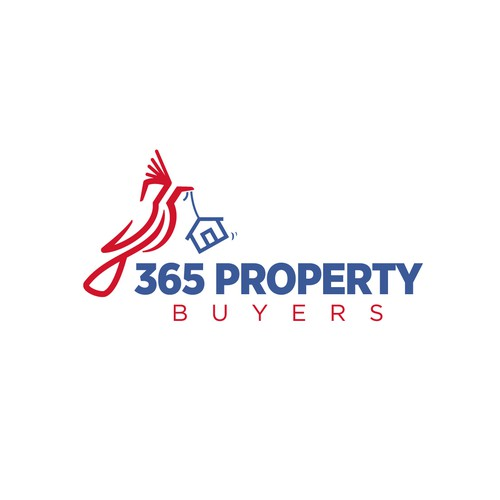 Hidden image style logo for real estate company