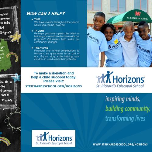 brochure design for Horizons at St. Richard's