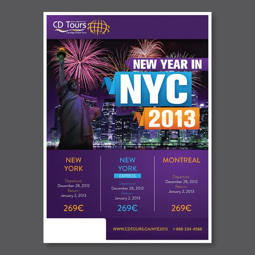 """*PRIZE GUARANTEED"" Create Marketing Materials for New Year's Eve 2013 Trips"