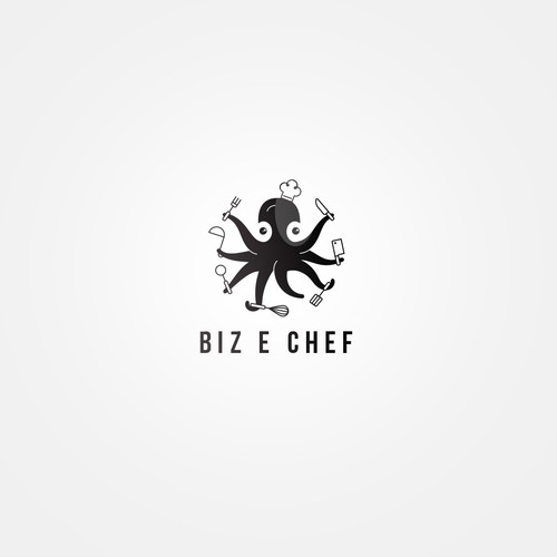 A logo for food blogger
