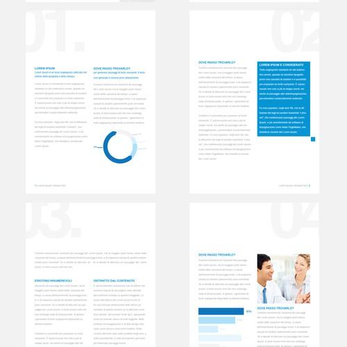 White paper graphic template