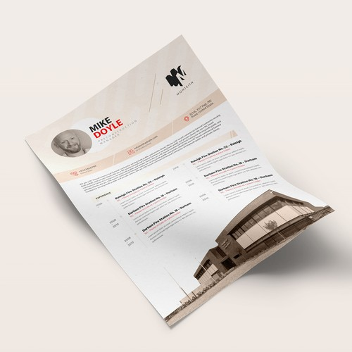Resume Template for Monteith