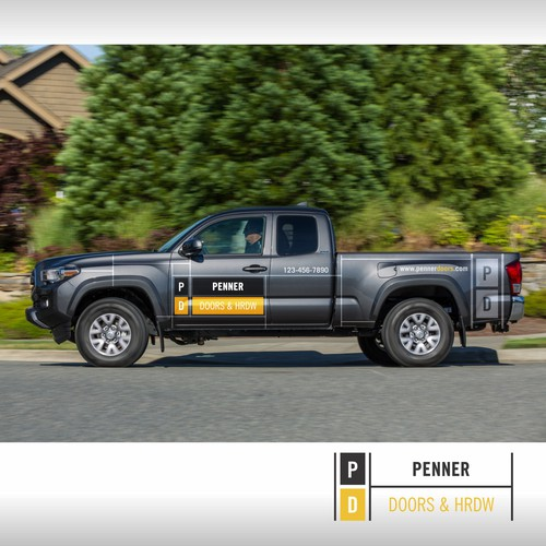 Penner Doors & Hardware - Simple & Effective Vehicle Branding