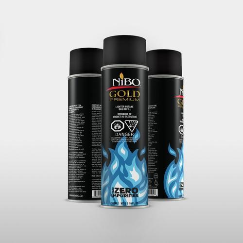 Premium butane cannister label design