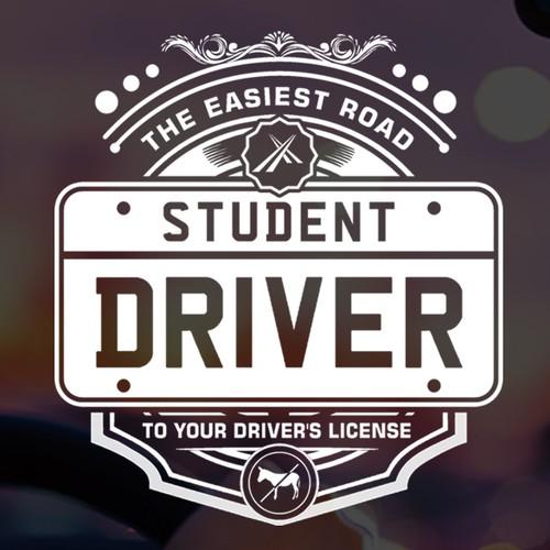 Logo student driver