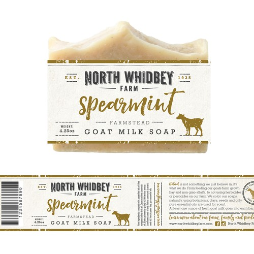 natural soap company label