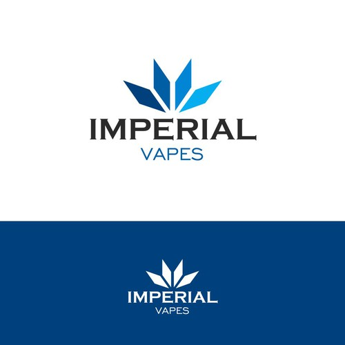 Trendy and modern logo for an online vaporizer shop.