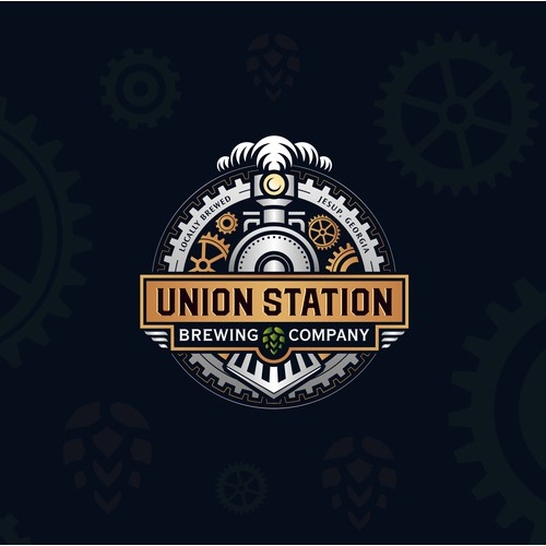 Steampunk logo concept for Union Station Brewing Company.