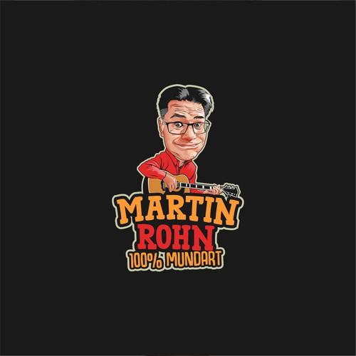 caricature logo (martin rohn)