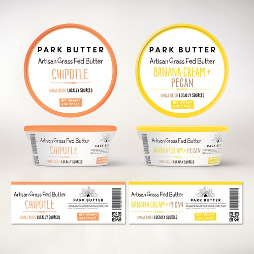 Product label design butter flavored