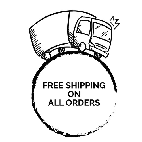 Line Illustration - Free Shipping