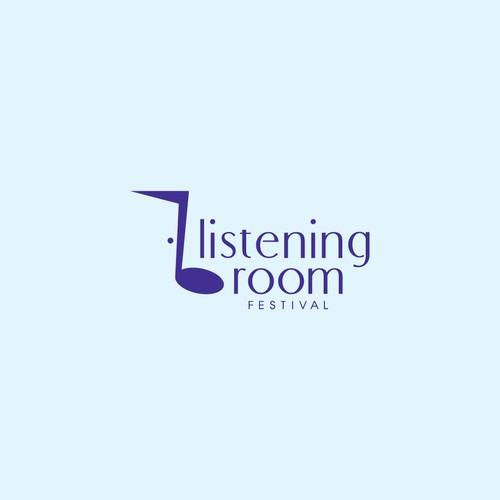 Logo Design for Listening Room Festival