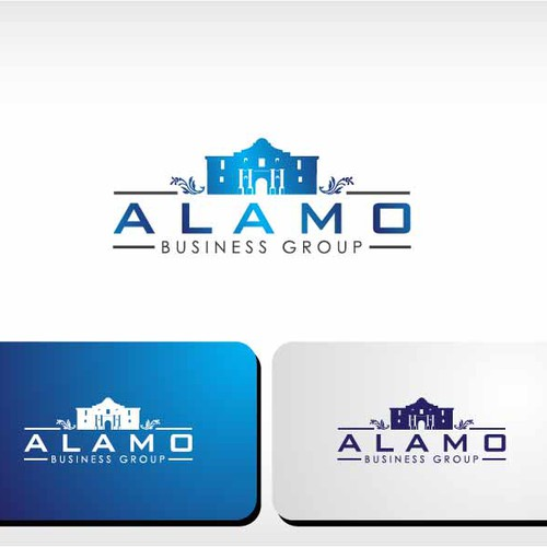 Create a powerful vectored logo for the Alamo Business Group