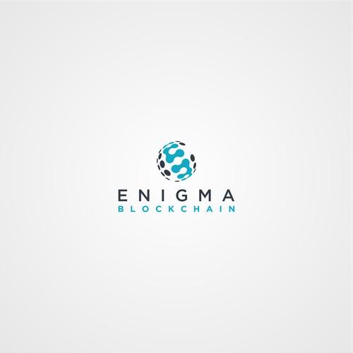 enigma blockchain logo design