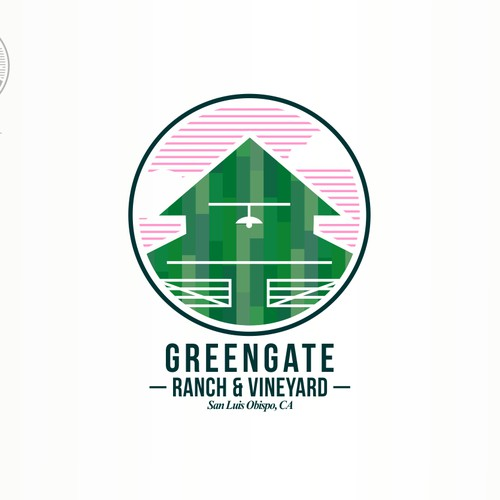 Logo design for classic california ranch and vineyard