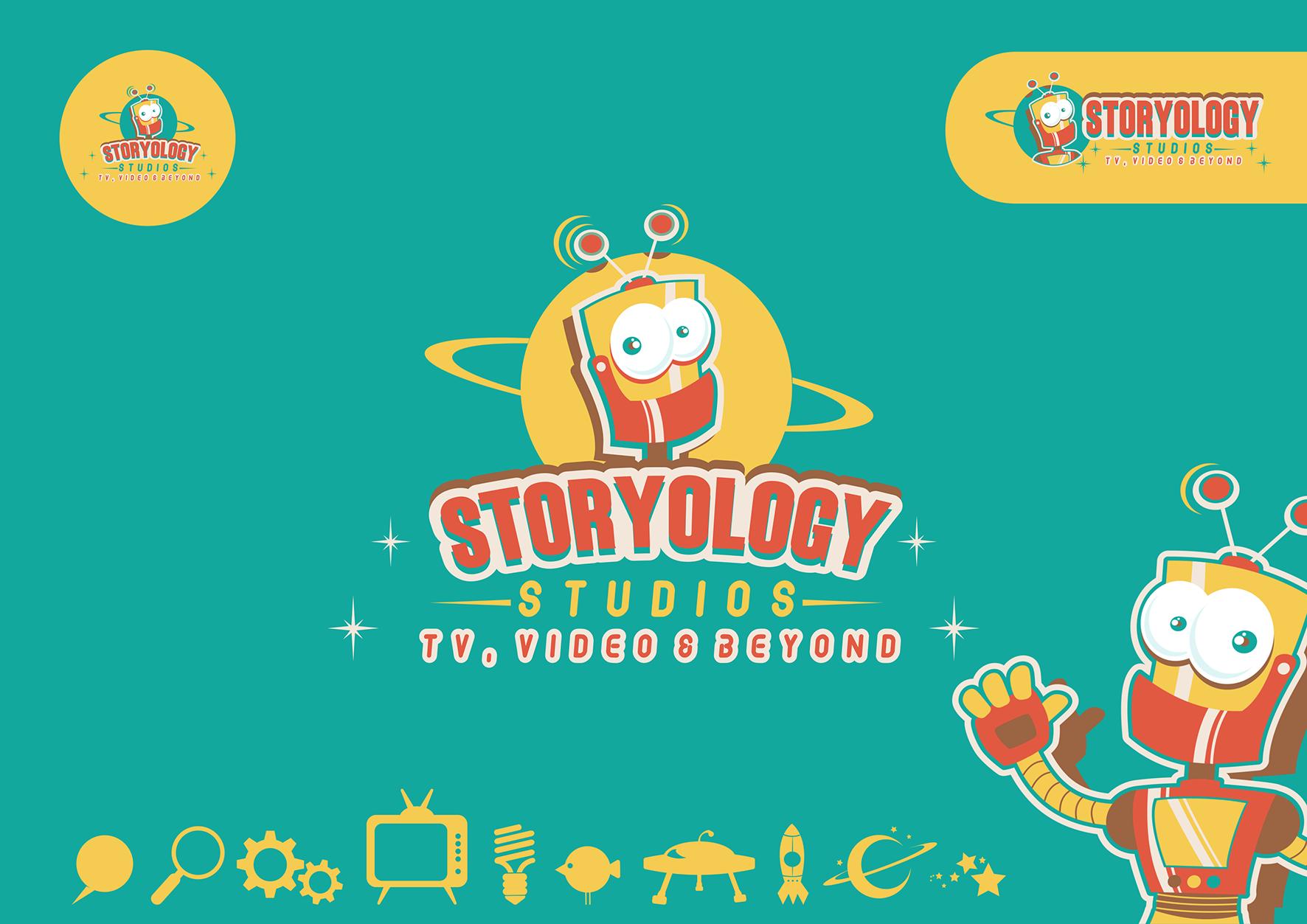 Create a Retro Sci Fi logo for Storyology Studios