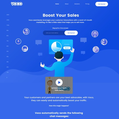Web page for Voco