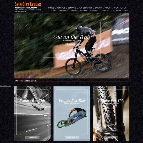 Create the next website design for Cycles