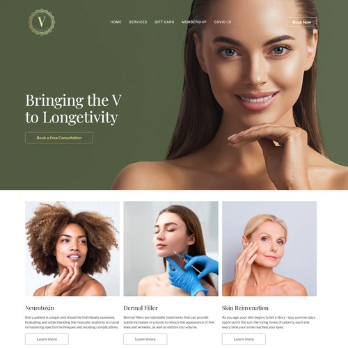 Sophisticated website for Medical Aesthetics provider