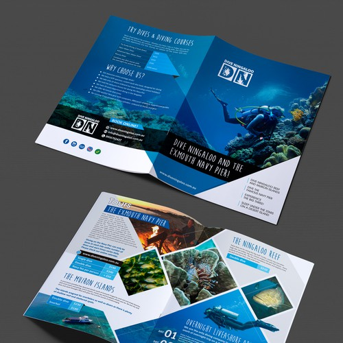 Brochure for Scuba Diving