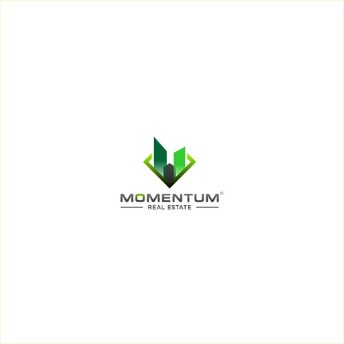 Sophisticated logo for the MOMENTUM real estate