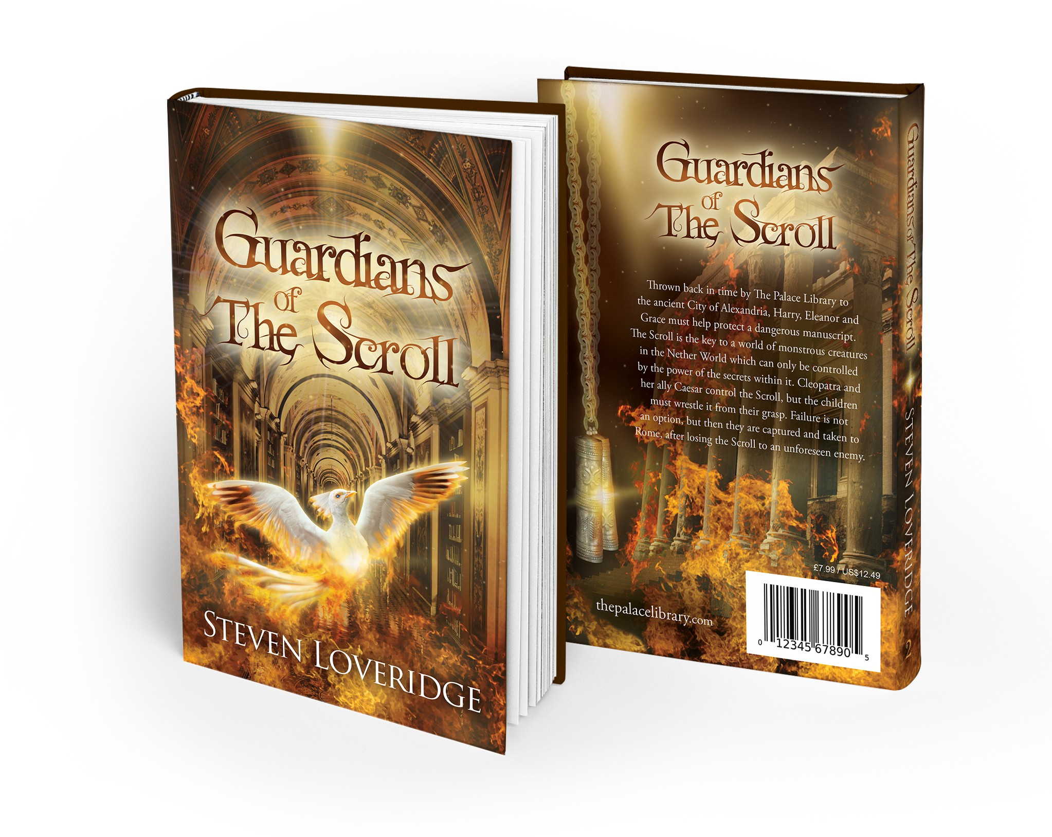 Childrens book cover design for Guardians of The Scroll by Steven Loveridge