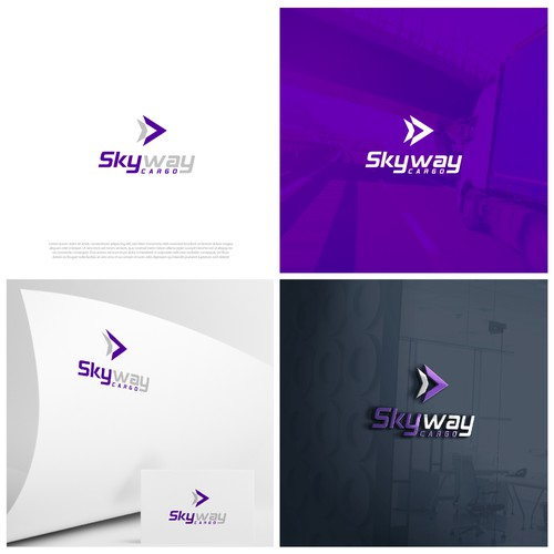Design a simple minimalistic - modern design for Skyway Cargo. remember it is a logistics company.