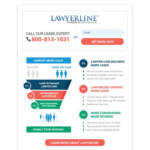 LawyerLine Landing page design