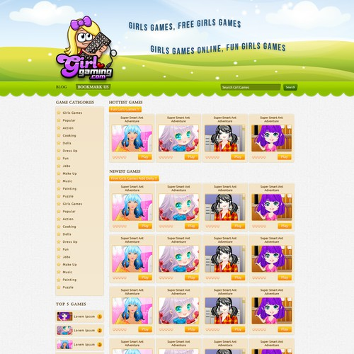 Help GirlGaming with a New Fun Website Design!