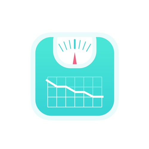 Modern Icon For a Weight Tracker App