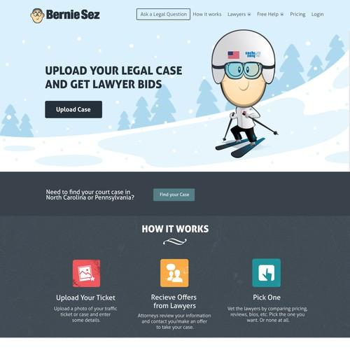 Landing page for berniesez