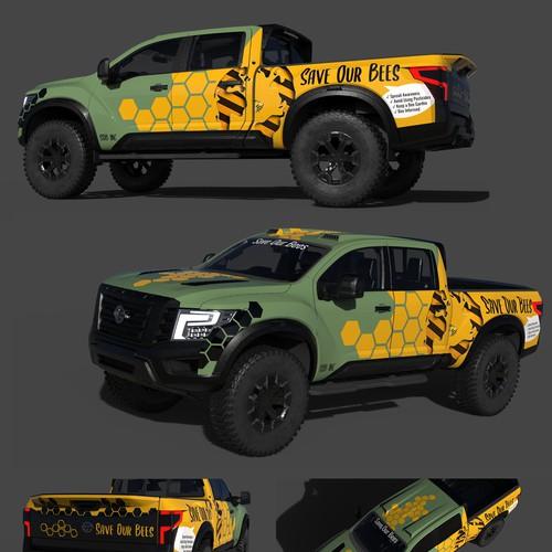 Car wrap - bee awareness