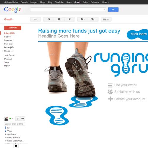 landing page for Running Guru
