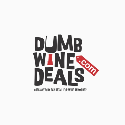 fun and unique logo for dumbwinedeals.com