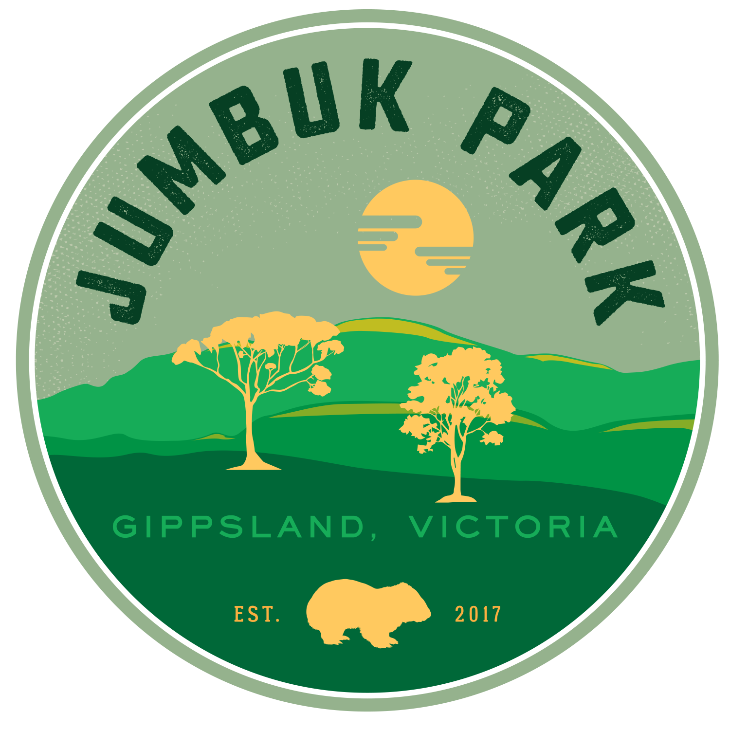 Logo for the most beautiful new camping ground!