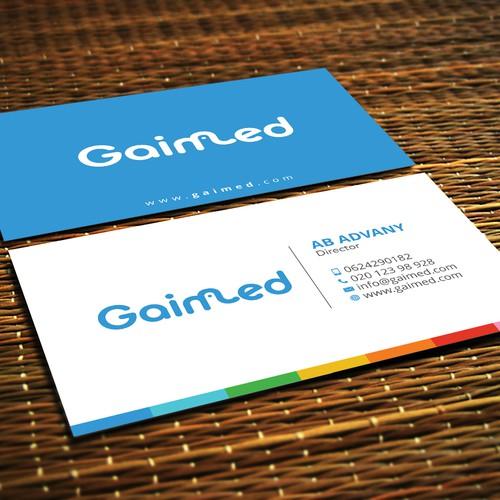 Design a businesscard for a technology startup - GAIMED