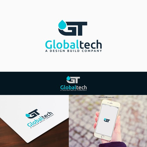 Technologic looking logo for contruction company