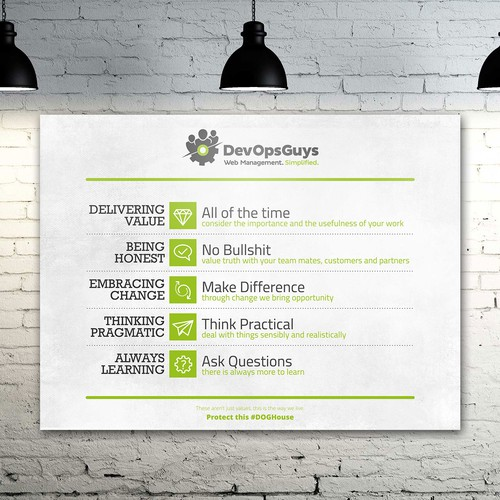 Wall canvas company motivation value for DevOpGuys