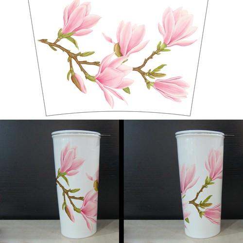 Magnolia Design Needed for Ceramic Mug