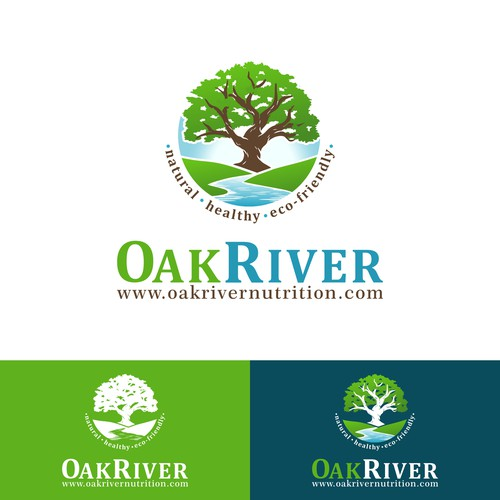 A illustrative nature logo for a nutrition company.