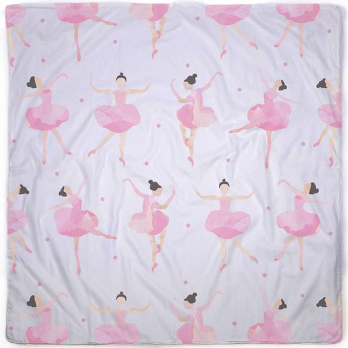 Watercolor ballerinas pattern for a blanket