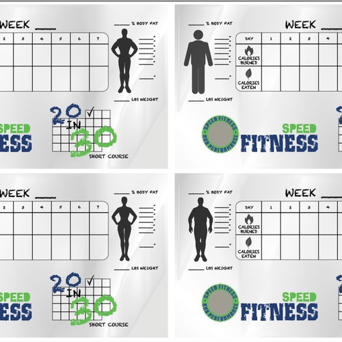 Tracking card for fitness program