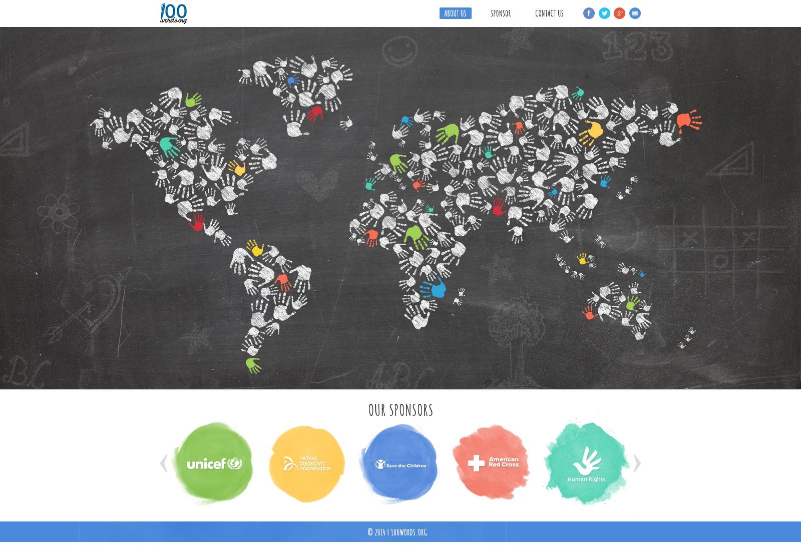 Creative website design for non-profit