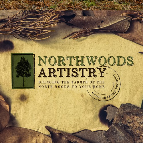 "Logo and Website for ""Northwoods Artistry"""
