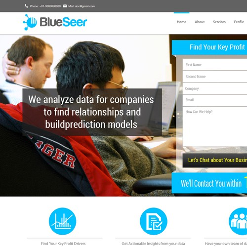 Landing Page for Data Analysis Company