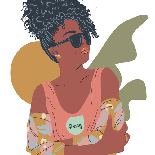 Millennial Girl Illustration