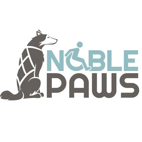 A Dog Mushing Logo with Moxie