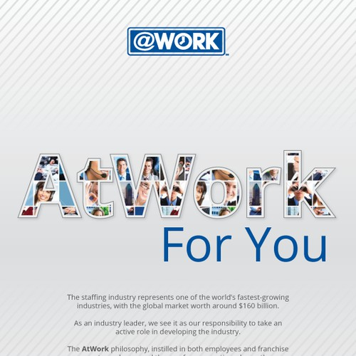 """""""AtWork For You"""" Company Mission Poster"""